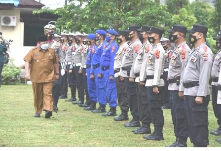 Apel Gelar Pasukan Operasi Ketupat Singalang 2021 DiPimpin Bupati Agam