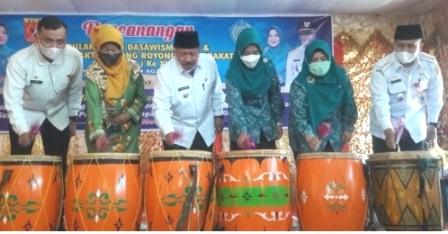 Bupati Agam Dr. H. Andri Warman, membuka resmi kegiatan Bulan Bakti Dasawisma (BBD) ke-V dan Bulan Bakti Gotong Royong Masyarakat (BBGRM) ke-XIII tingkat Kabupaten Agam tahun 2021