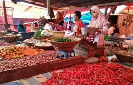 Harga Bahan Pokok Di Pasar Tradisional Agam Mulai Meroket