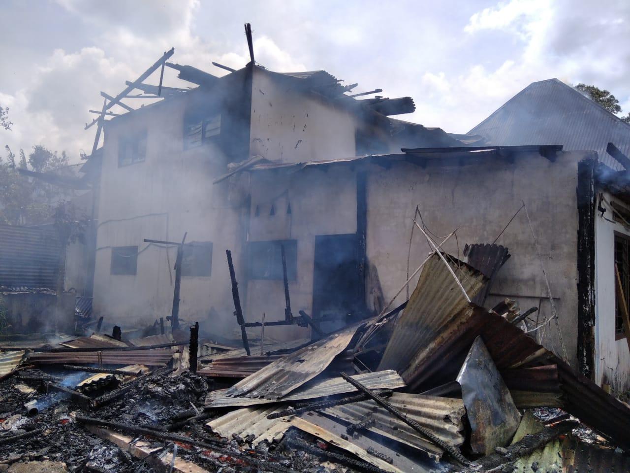 Kebakaran Rumah di jorong Baso Nagari Tabek Panjang Kec. Baso