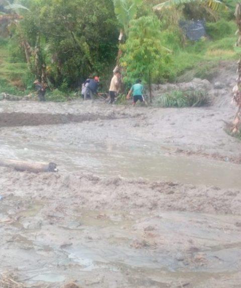 Longsor Di Sawah Landek Batagak Sungai Pua, Satu Rumah Tenggelam
