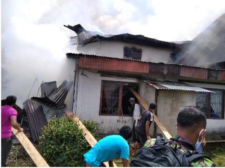 Sigulambai Hancurkan 1 Unit Rumah Permanen DI Baso
